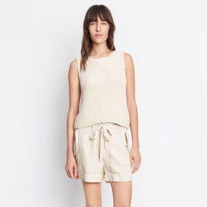 Vince Italian Cotton Drawstring Utility Shorts